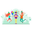 birthday celebration partying people friends vector image
