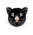 black-panther-head vector image
