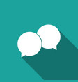 blank speech bubbles icon with long shadow vector image