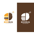 burger and bomb logo combination hamburger vector image vector image