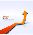 business success growth arrow moving upward vector image vector image