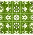 Christmas seamless pattern of heart view vector image vector image