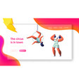 circus carnival show with strongman and aerialists vector image vector image