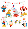 circus characters set vector image vector image