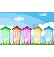 Colorful tall buildings