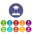 cook set icons vector image