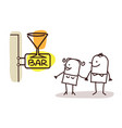 couple and bar sign vector image