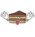 crazy tiramisu mascot cartoon style vector image vector image