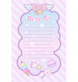 cute pastel magical lovely ribon and sweet letter vector image vector image