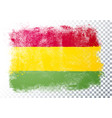 distortion grunge flag bolivia vector image vector image