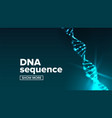 dna structure science background human vector image