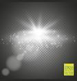 elegant transparent flash shining sun and cloud vector image