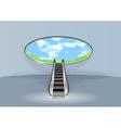 escalator in sky vector image