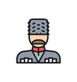 georgian man in ethnic costume flat color line vector image