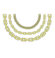Gold chains vector image vector image