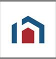 h home logo vector image vector image