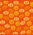 halloween card with pumpkin pattern background vector image