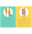 happy family spend time together couple and child vector image vector image
