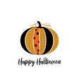 happy halloween greeting card glitter pumpkin and vector image vector image