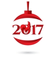 Happy New Year 2017 with vector image