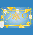 happy new year 2019 golden numbers with confetti vector image