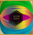 hexagonal frame on saturated colorful background