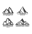 Hill landscape or mountain pick set of icons vector image vector image
