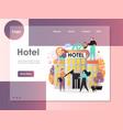 hotel website landing page design template vector image vector image