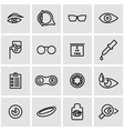 line optometry icon set vector image