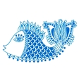 marker drawing of decorative doodle fish vector image