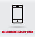 Mobile icon in modern style for web site and