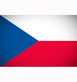 national flag czech republic vector image vector image
