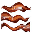 paper cut coffee flow design element for your vector image vector image