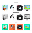 photoshoot and work symbol vector image vector image
