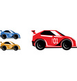 Race cars vector image vector image