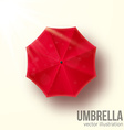 red umbrella top view vector image vector image