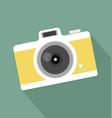 retro vintage camera long shadow icon vector image vector image