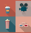 set cinema icon vector image vector image