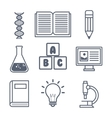 set elements lab school graphic isolated vector image