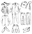 Set of business clothes for men vector image vector image