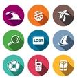 Set of Emergency Service Icons Tsunami vector image vector image