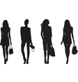 Silhouettes of Fashion women vector image