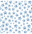 Silver stars on white background seamless pattern vector image