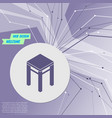 stool icons on purple abstract modern background vector image vector image