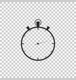 stopwatch icon isolated on transparent background vector image vector image