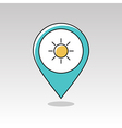 Sun pin map icon Meteorology Weather vector image vector image