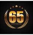 Template Logo 65 Years Anniversary vector image vector image