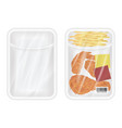 top view white polystyrene packaging mockup vector image vector image