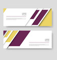 two abstract banner design with modern color line vector image vector image