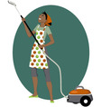 Vacuum cleaning vector image vector image
